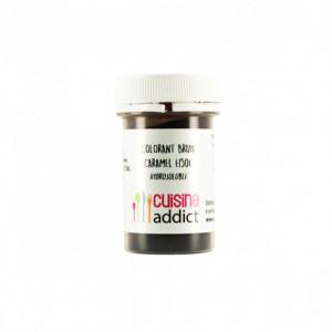 Colorant alimentaire Marron Brun Caramel E150C 10g Poudre Hydrosoluble Cuisineaddict