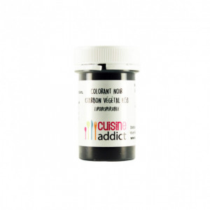 Colorant alimentaire Noir Charbon Végétal E153 5g Poudre Lipodispersible Cuisineaddict