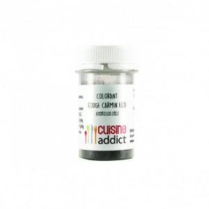 Colorant alimentaire Rouge Carmin E120 10g Poudre Hydrosoluble Cuisineaddict