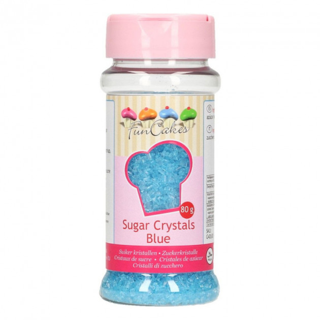 Sucre colore Bleu ciel 80g Funcakes
