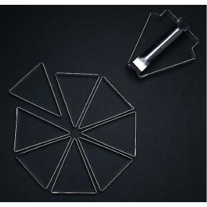 Lot de 8 Triangles à Part de Tarte individuelle