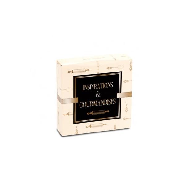 Boîte pâtissière Inspirations et Gourmandises - 16 x H 5 cm - (x50)
