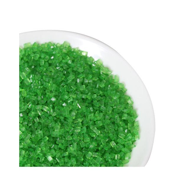 Cristaux de sucre colore Vert 80g Funcakes