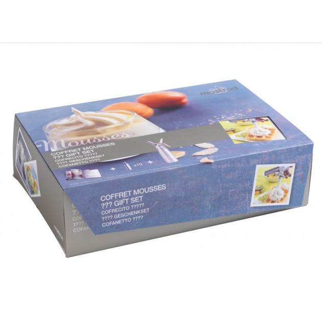 Coffret Siphon 50 cl Mastrad : Siphon + classeur recette + cartouches x10