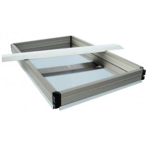 Plaque support pour cadres superposables (570 x 110 mm)
