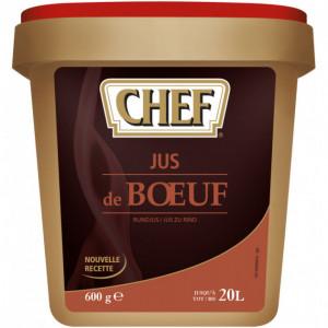 Jus de Boeuf déshydraté 20L 600g CHEF