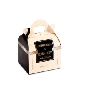 Boîte pâtissière avec poignées Inspirations 10 x 12 cm x H 7 cm (x50)