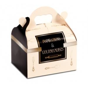Boîte pâtissière avec poignées Inspirations -16 x 18 x H 7 cm - (x50)