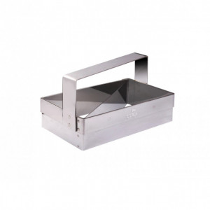 Coupe Croissant Inox 130 x 68 mm