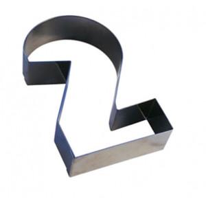Chiffre inox 2 Moule-Découpoir 100 mm Gobel