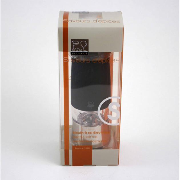 Packaging du Moulin a Sel Electrique Zephir 14 cm Noir Soft Touch Peugeot