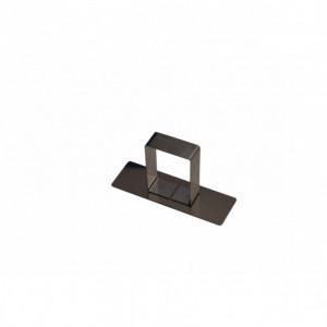 Poussoir Rectangle inox 88 x 28 mm