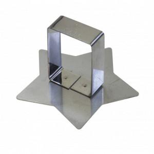 Poussoir Etoile inox 78 x 78 mm - Gobel
