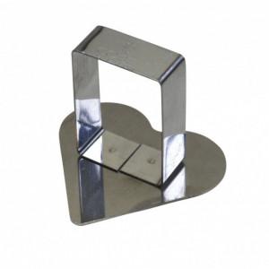 Poussoir Coeur inox 63 x 57 mm - Gobel