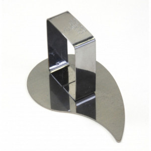 Poussoir Larme  inox 88 x 54 mm - Gobel