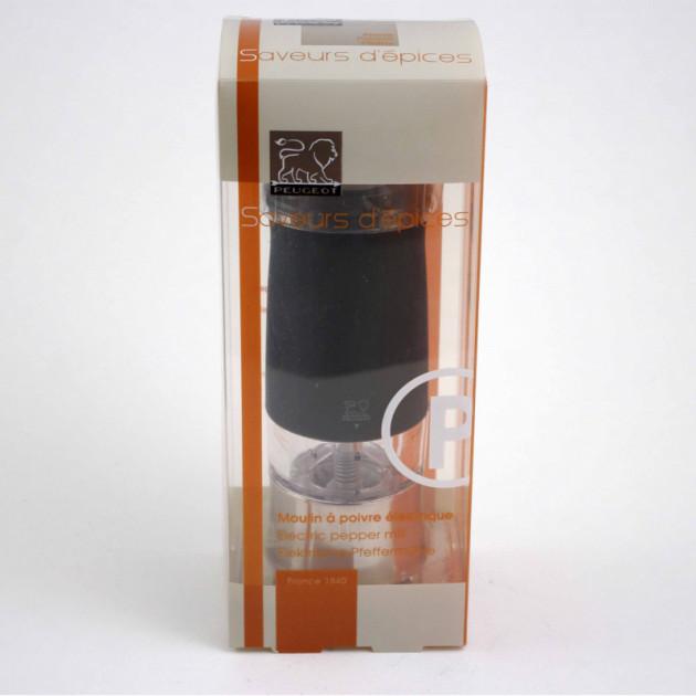 Packaging du Moulin a Poivre Electrique Zephir 14 cm Noir Soft Touch Peugeot