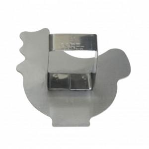 Poussoir Poule  inox 89 x 85 mm - Gobel