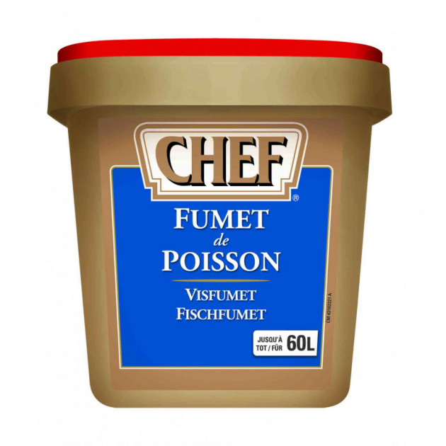 Fumet de poisson deshydrate 60 L 900g CHEF
