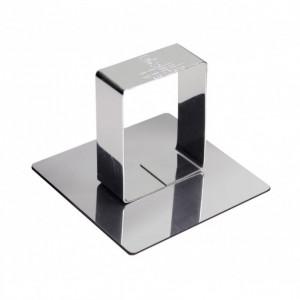 Poussoir Carré inox 58 x 58 mm