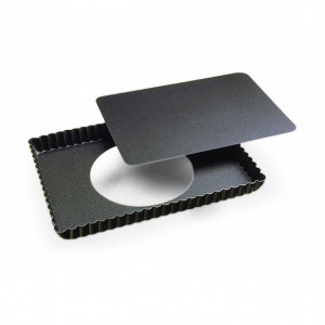 Tarte rectangulaire fond mobile bord cannelé