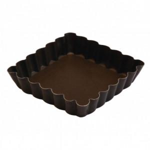 Tartelette carrée cannelée fond fixe