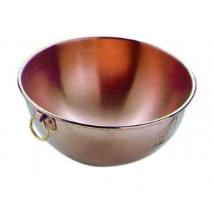 Bassine à confiture en cuivre à Blanc de 30 cm