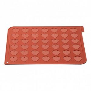 Plaque Macarons Coeurs Silicone 40 x 30 cm Silikomart