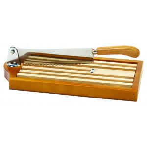 Couteau à pain sur socle bois verni 25 cm