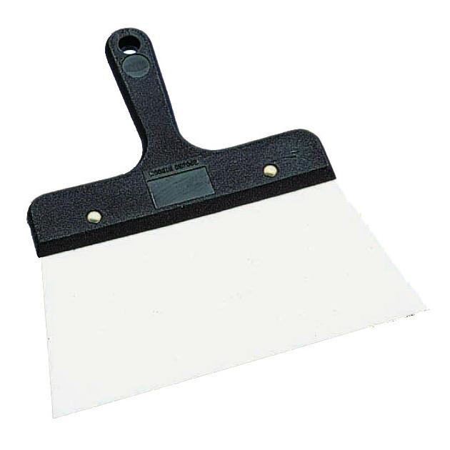 Palette a enduire manche poly en inox de 22 cm