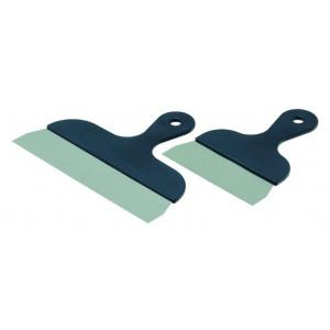 Spatule en inox manche plastique de 27 cm pour la pâtisserie