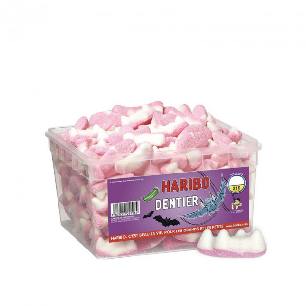 Dentiers Tutti Fruti x 210 - Boîte Bonbon Haribo