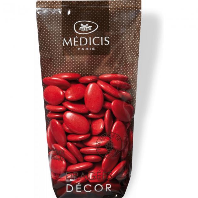 Dragees Chocolat Rouge Noel 250g Medicis