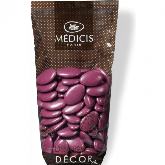 Dragees Chocolat Violet 250g Medicis