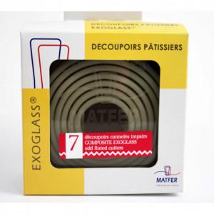 Découpoirs ronds cannelés impairs Exoglass (Boîte de 7)
