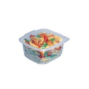 Boîte Plastique avec Couvercle 375 ml 12,3 x 11,4 cm x H 6,6 cm (x50) Ondipack