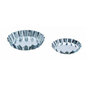 Moules Tartelettes cannelées 9cm Fer blanc x12