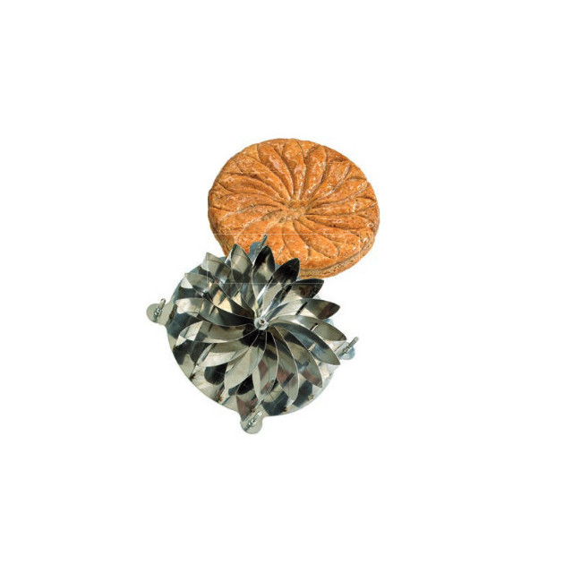 Decoupoir Galette Fleur en Inox 20 cm
