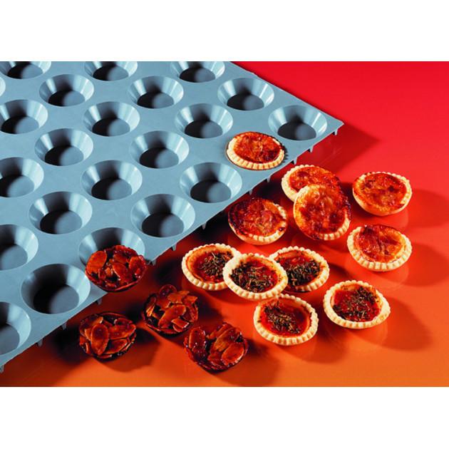 Elastomoule mini-tartelettes - 24 empreintes 30 x 17.5 cm - Silicone de Buyer