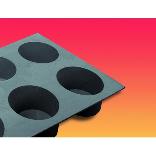 Elastomoule Muffin - 6 empreintes 30 x 17.6 cm - Silicone de Buyer
