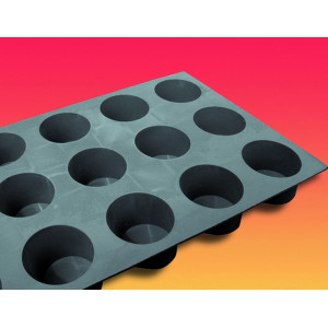 Elastomoule mini-Muffins - 15 empreintes 30 x 17,6 cm - Silicone de Buyer