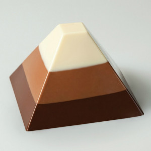 35 Pyramides Pavoflex - Moule silicone 60 x 40 cm