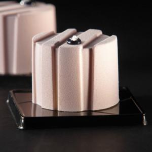 Moule Silicone Rond Rayé Ø 6 cm x H 4,5 cm (x24) Pavoflex