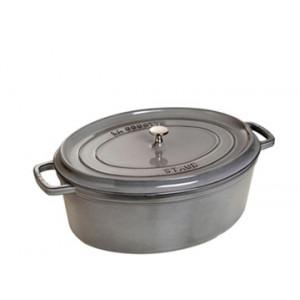 STAUB Cocotte Fonte Ovale 29 cm Gris Graphite 4,2 L