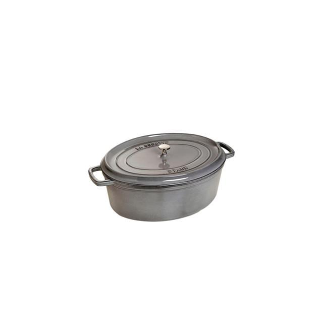 STAUB Cocotte Fonte Ovale 29 cm Gris Graphite 4.2 L