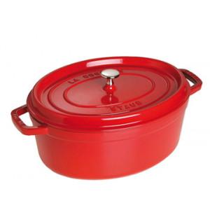 STAUB Cocotte Fonte Ovale 37 cm Rouge Cerise 8 L