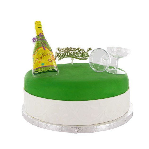 Kit Decor Gateau Champagne (4 pieces)