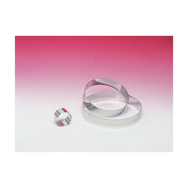 Cercle a mousse Inox sans fond Hauteur 4.5 cm