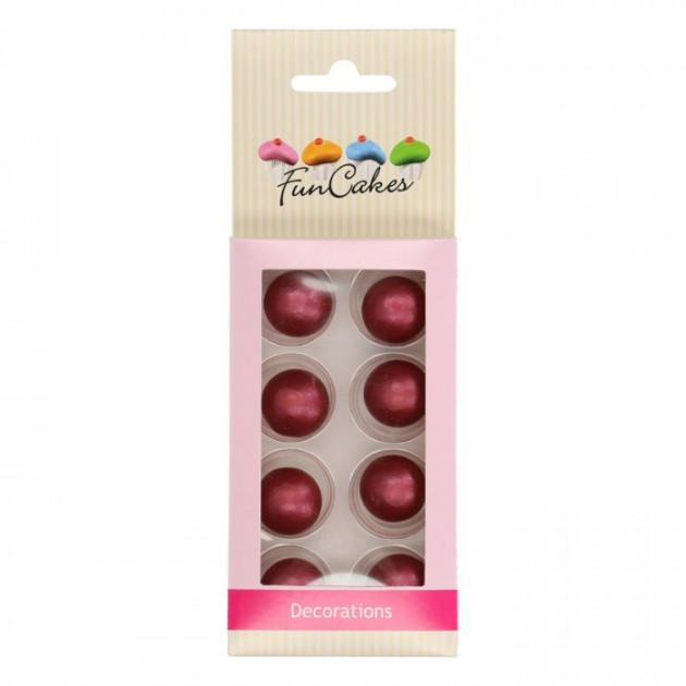 Sphère en Chocolat Rubis 2 cm (x8) Funcakes
