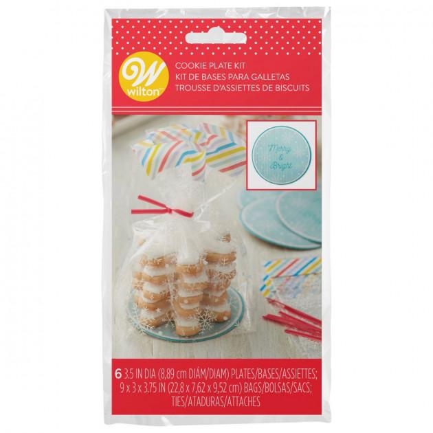 Sachet Biscuits Merry & Bright 9,5 x 7,6 cm x H 22,8 cm (x6) Wilton