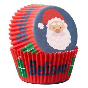 Caissette Cupcake Père Noël Wilton (x75)